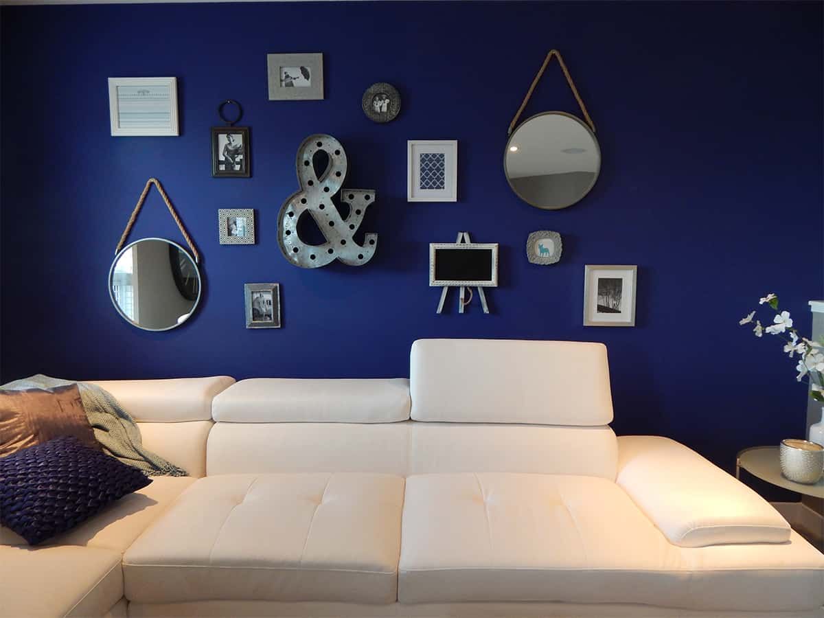 Blue is the new grey home decor