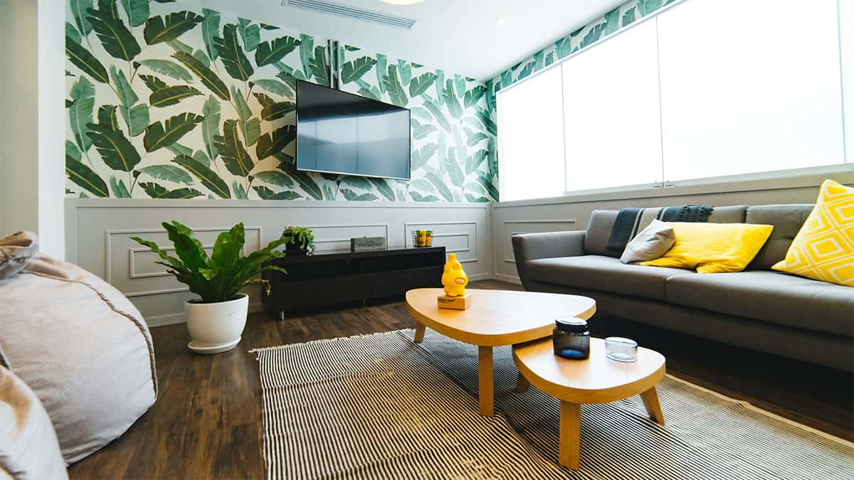 A Wall Mounted Television