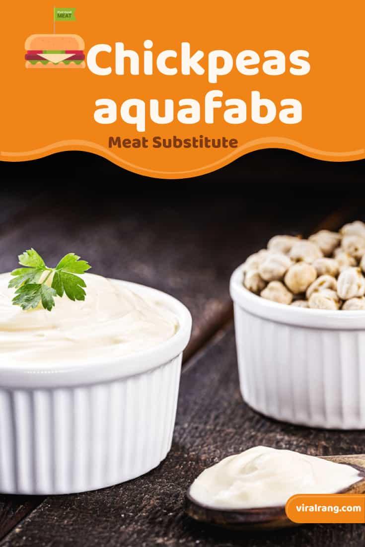 Chickpeas aquafaba Meat Substitute