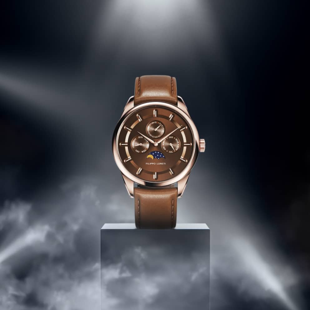 Venice Moonphase Chocolate Watch